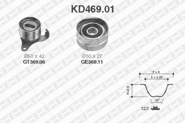 Ilustracja KD469.01 SNR zestaw paska rozrządu