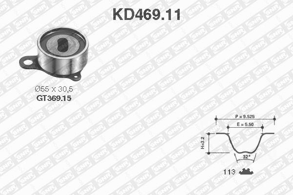 Ilustracja KD469.11 SNR zestaw paska rozrządu