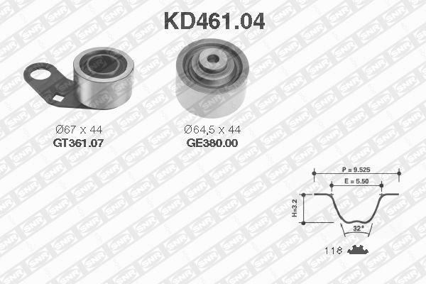Ilustracja KD461.04 SNR zestaw paska rozrządu