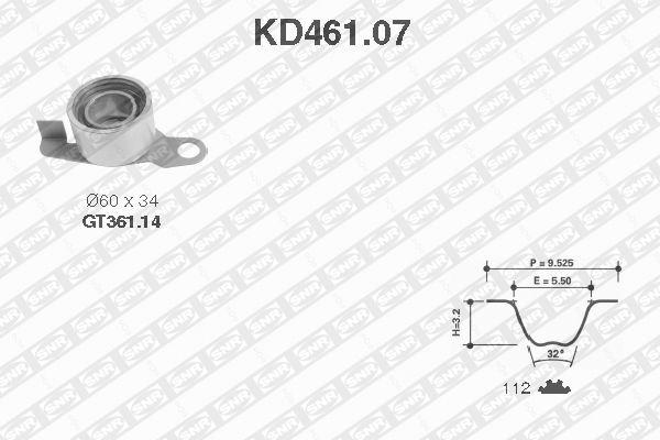 Ilustracja KD461.07 SNR zestaw paska rozrządu