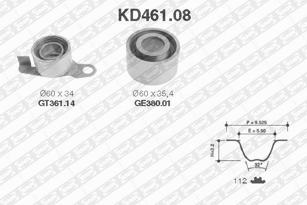 Ilustracja KD461.08 SNR zestaw paska rozrządu