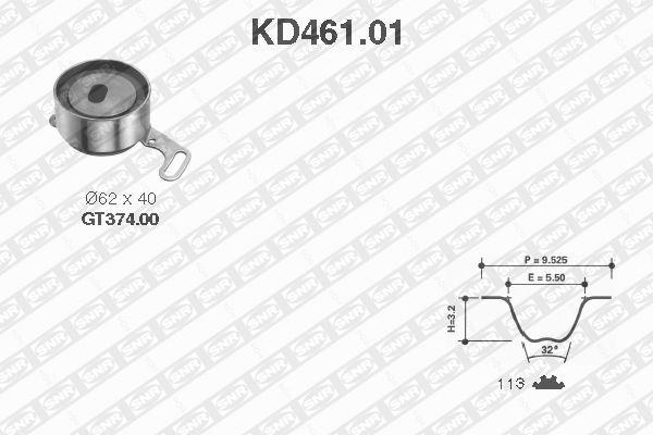 Ilustracja KD461.01 SNR zestaw paska rozrządu
