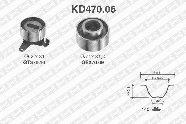 Ilustracja KD470.06 SNR zestaw paska rozrządu