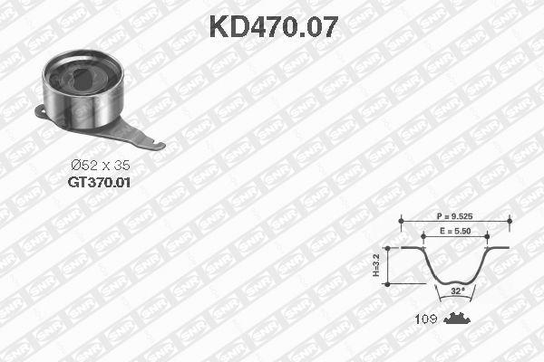 Ilustracja KD470.07 SNR zestaw paska rozrządu