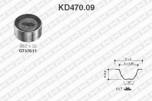 Ilustracja KD470.09 SNR zestaw paska rozrządu