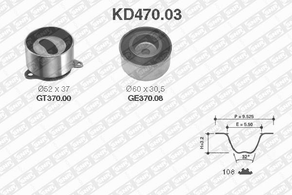 Ilustracja KD470.03 SNR zestaw paska rozrządu