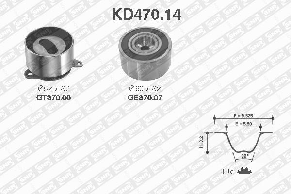 Ilustracja KD470.14 SNR zestaw paska rozrządu