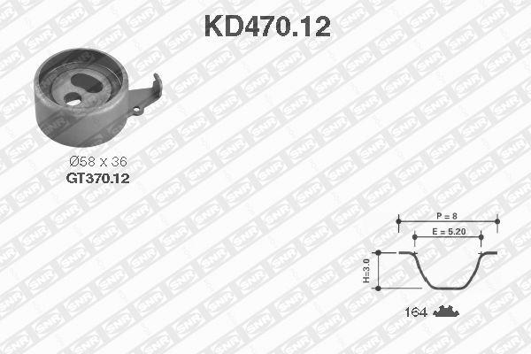 Ilustracja KD470.12 SNR zestaw paska rozrządu
