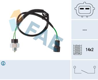 Ilustracja 41281 FAE włącznik świateł cofania