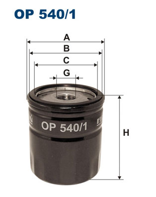 Ilustracja OP 540/1 FILTRON filtr oleju