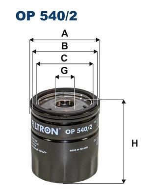 Ilustracja OP 540/2 FILTRON filtr oleju