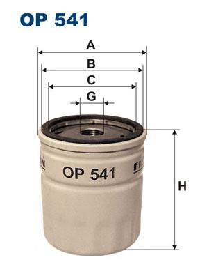 Ilustracja OP 541 FILTRON filtr oleju