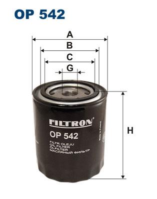 Ilustracja OP 542 FILTRON filtr oleju