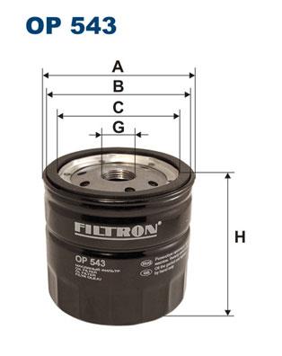 Ilustracja OP 543 FILTRON filtr oleju