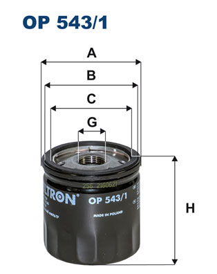 Ilustracja OP 543/1 FILTRON filtr oleju