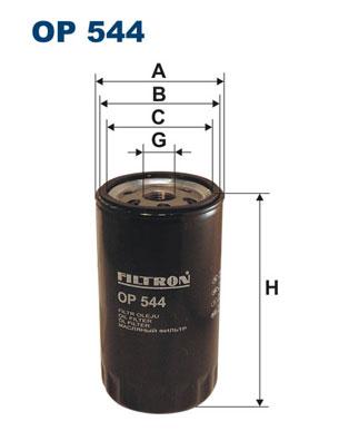 Ilustracja OP 544 FILTRON filtr oleju
