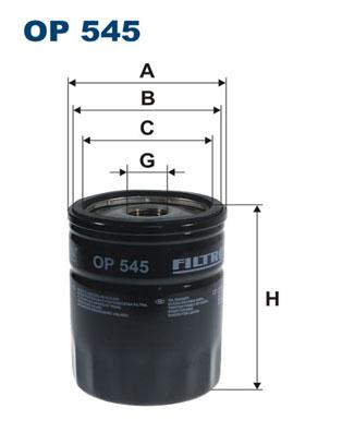 Ilustracja OP 545 FILTRON filtr oleju