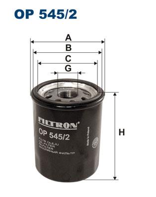 Ilustracja OP 545/2 FILTRON filtr oleju