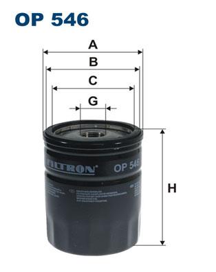 Ilustracja OP 546 FILTRON filtr oleju
