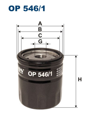 Ilustracja OP 546/1 FILTRON filtr oleju