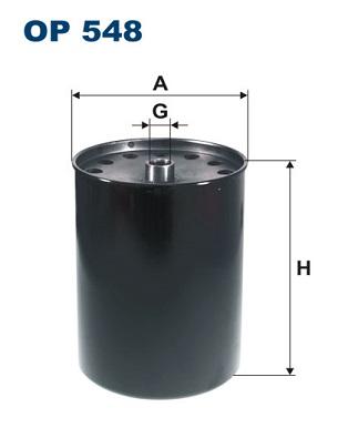 Ilustracja OP 548 FILTRON filtr oleju