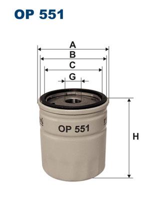 Ilustracja OP 551 FILTRON filtr oleju
