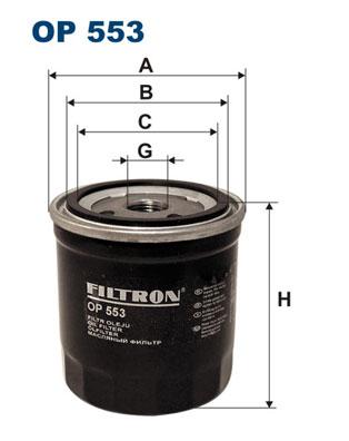 Ilustracja OP 553 FILTRON filtr oleju