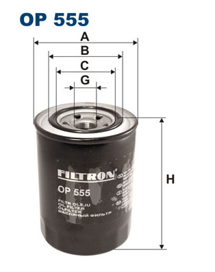 Ilustracja OP 555 FILTRON filtr oleju