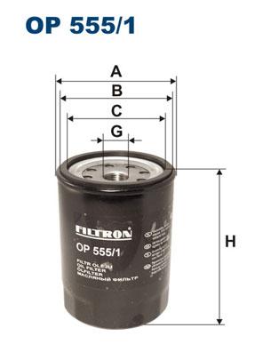 Ilustracja OP 555/1 FILTRON filtr oleju