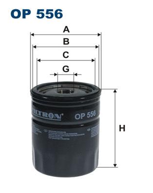 Ilustracja OP 556 FILTRON filtr oleju