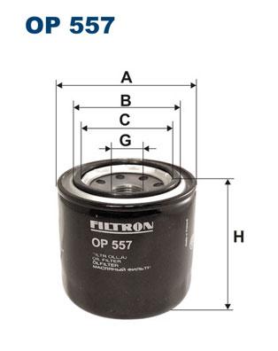 Ilustracja OP 557 FILTRON filtr oleju