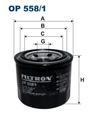 Ilustracja OP 558/1 FILTRON filtr oleju
