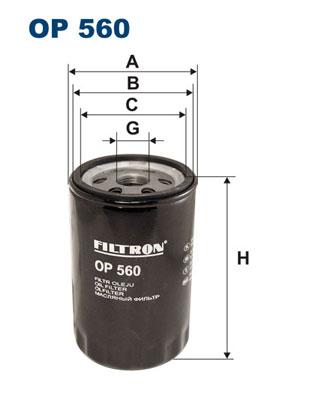 Ilustracja OP 560 FILTRON filtr oleju