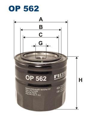 Ilustracja OP 562 FILTRON filtr oleju