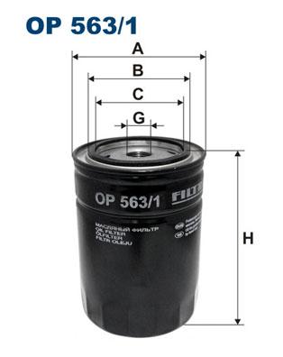 Ilustracja OP 563/1 FILTRON filtr oleju