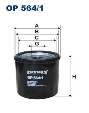 Ilustracja OP 564/1 FILTRON filtr oleju