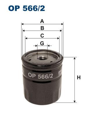 Ilustracja OP 566/2 FILTRON filtr oleju