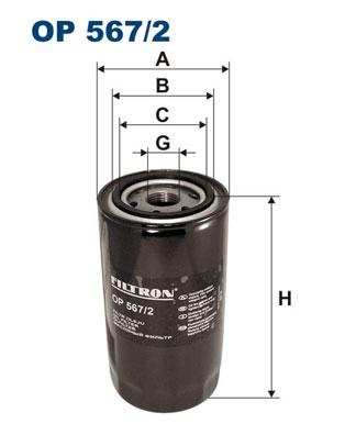 Ilustracja OP 567/2 FILTRON filtr oleju