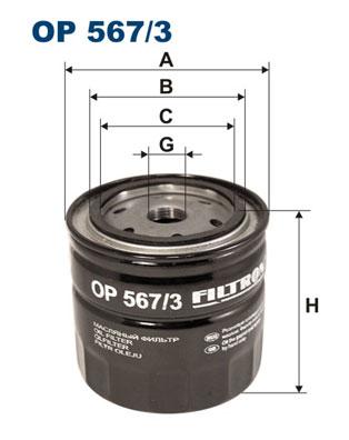 Ilustracja OP 567/3 FILTRON filtr oleju
