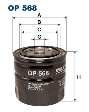 Ilustracja OP 568 FILTRON filtr oleju