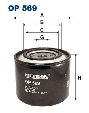 Ilustracja OP 569 FILTRON filtr oleju