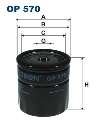 Ilustracja OP 570 FILTRON filtr oleju