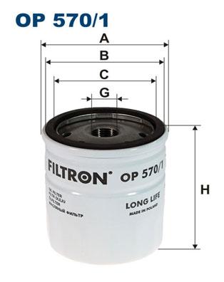 Ilustracja OP 570/1 FILTRON filtr oleju