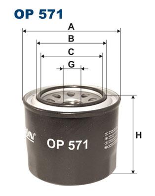 Ilustracja OP 571 FILTRON filtr oleju