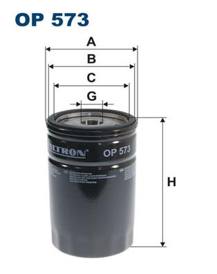 Ilustracja OP 573 FILTRON filtr oleju