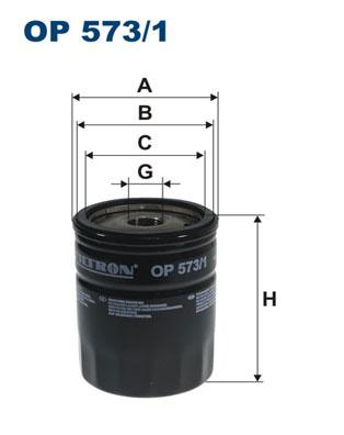Ilustracja OP 573/1 FILTRON filtr oleju
