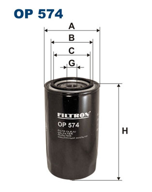 Ilustracja OP 574 FILTRON filtr oleju