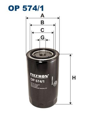 Ilustracja OP 574/1 FILTRON filtr oleju