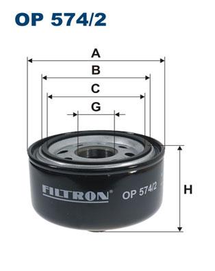 Ilustracja OP 574/2 FILTRON filtr oleju