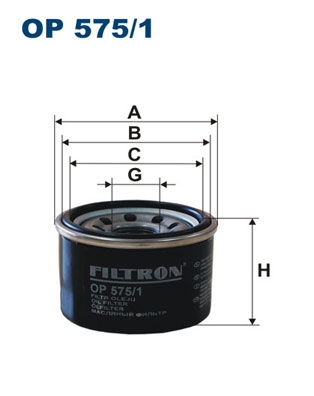 Ilustracja OP 575/1 FILTRON filtr oleju